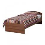 ТОДАЛЕН Каркас кровати с изголовьем - классический коричневый, 90x200 см