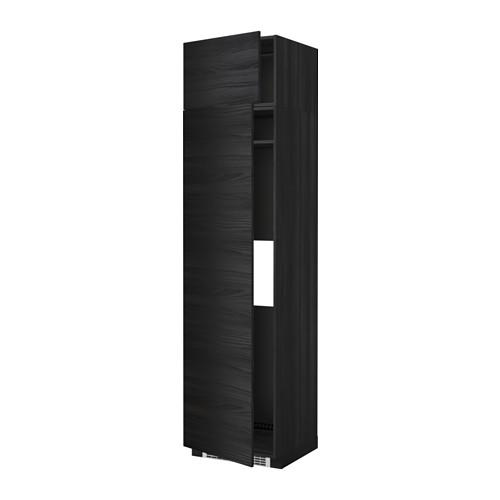 МЕТОД Выс шкаф д/холодильн или морозильн - 60x60x240 см, Тингсрид под дерево черный, под дерево черный