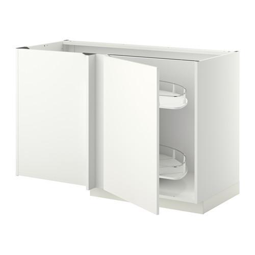 МЕТОД Угловой напол шкаф с выдвижн секц - Хэггеби белый, белый