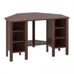 БРУСАЛИ Угловой письменный стол - коричневый