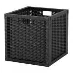 БРАНЭС Корзина - черный, 32x35x32 см