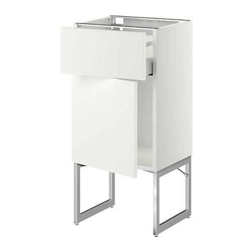 МЕТОД / МАКСИМЕРА Напольный шкаф с ящиком/дверью - 40x37x60 см, Хэггеби белый, белый