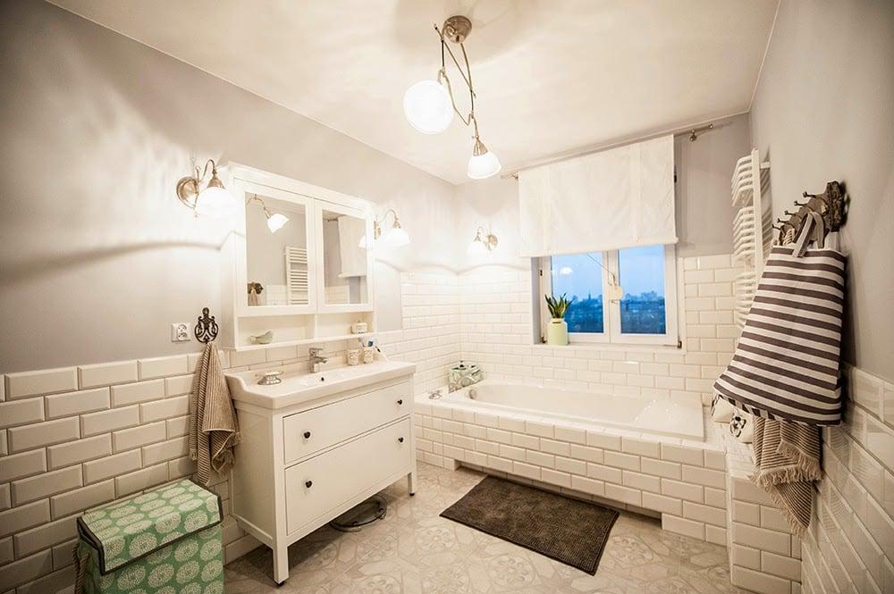Wnętrze łazienki W Stylu Skandynawskim