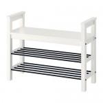 HEMNES bench with white shoe rack
