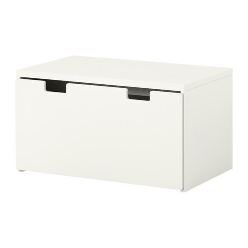 СТУВА Скамья с ящиком - белый/белый