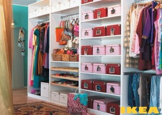 Интерьер гардероба от IKEA