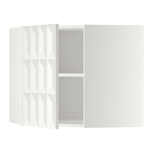 МЕТОД Угловой навесной шкаф с полками - 68x60 см, Гэррестад белый, белый