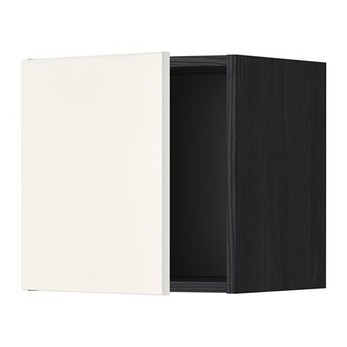 МЕТОД Шкаф навесной - 40x40 см, Веддинге белый, под дерево черный