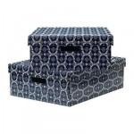 ЛИНГУ Коробка для одежды с крышкой - синий