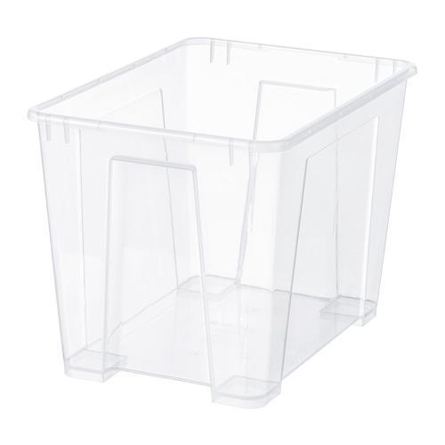 САМЛА Контейнер - прозрачный, 39x28x28 см/22 л