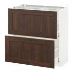 МЕТОД / МАКСИМЕРА Напольный шкаф с 2 ящиками - 80x37 см, Эдсерум под дерево коричневый, белый
