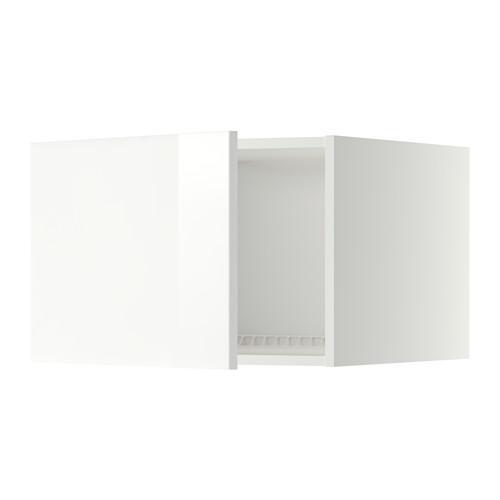 МЕТОД Верх шкаф на холодильн/морозильн - 60x40 см, Рингульт глянцевый белый, белый