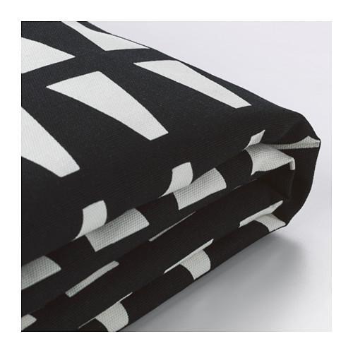 ЛИКСЕЛЕ Чехол на 2-местный диван-кровать - -, Эббарп черный/белый