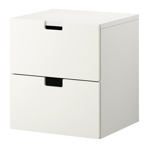СТУВА Комод с 2 ящиками - белый