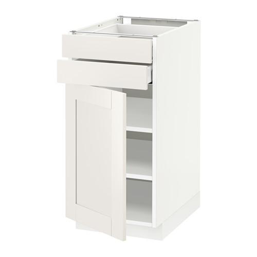 МЕТОД / МАКСИМЕРА Напольный шкаф с дверцей/2 ящиками - 40x60 см, Сэведаль белый, белый