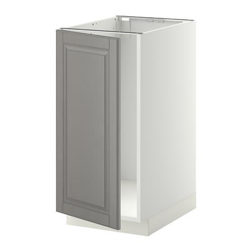 МЕТОД Наполный шкаф д/мойки/мусорн конт - Будбин серый, белый