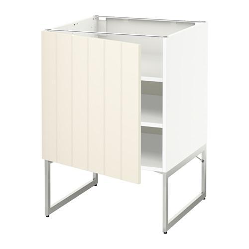 МЕТОД Напольный шкаф с полками - 60x60x60 см, Хитарп белый с оттенком, белый