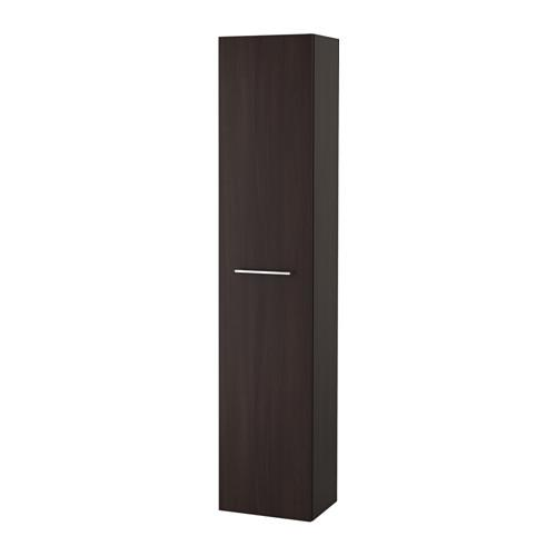 GODMORGON High cabinet - black-brown