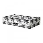 ГАРНИТУР Сумка для хранения - черный/белый цветок, 93x55x19 см