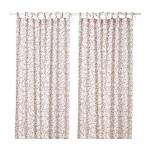 HÄSSLEKLOCKA curtains, 1 pair of white