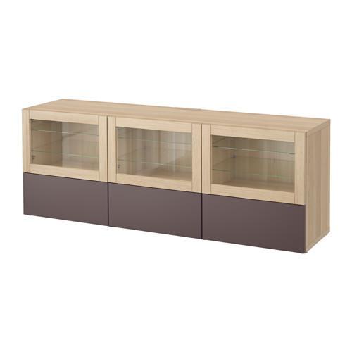 Best tv stand con ante e cassetti un rovere sbiancato valviken marrone scuro vetro - Guide per cassetti ikea ...