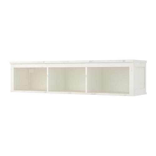 ХЕМНЭС Полочный/арочный модуль - белая морилка, 148x37 см