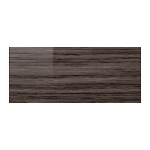 СЕЛЬСВИКЕН Фронтальная панель ящика - глянцевый с рисунком коричневый