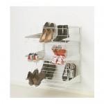 ALGOT nástenná lišta / modul d / topánka biela 65x60x84 cm
