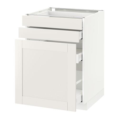МЕТОД / МАКСИМЕРА Нплн шк с вдв мдл/2 фрнт - 60x60 см, Сэведаль белый, белый