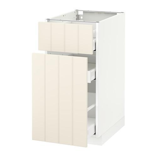 МЕТОД / МАКСИМЕРА Напольн шкаф/выдвижн секц/ящик - 40x60 см, Хитарп белый с оттенком, белый