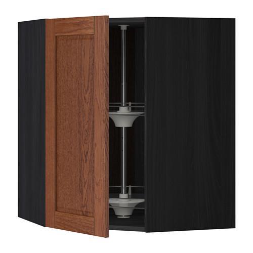 МЕТОД Угл нвсн шкф с вращающ секц - 68x80 см, Филипстад коричневый, под дерево черный