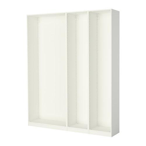 ПАКС 3 каркаса гардеробов - белый, 200x35x236 см