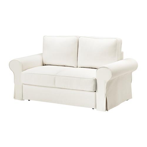 БАККАБРУ Чехол на 2-местный диван-кровать - -, Хильте белый