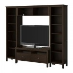 ХЕМНЭС Шкаф для ТВ, комбинация - черно-коричневый