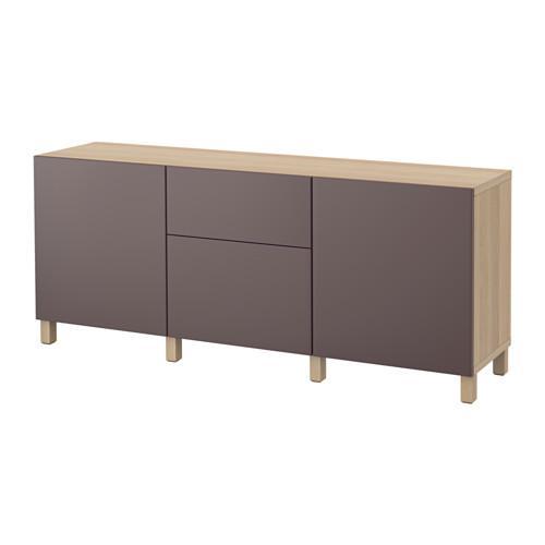 combinaison de rangement best avec tiroirs ch ne valviken brun fonc blanchi rails de. Black Bedroom Furniture Sets. Home Design Ideas