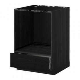 МЕТОД / МАКСИМЕРА Напольный шкаф д/духовки, с ящиком - Тингсрид под дерево черный, под дерево черный
