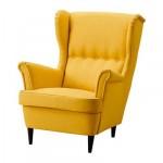 СТРАНДМОН Кресло с подголовником - Шифтебу желтый
