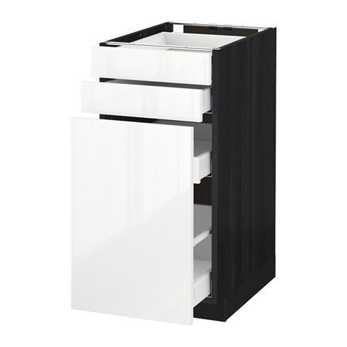 МЕТОД / МАКСИМЕРА Нплн шк с вдв мдл/2 фрнт - 40x60 см, Рингульт глянцевый белый, под дерево черный
