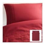 АЛЬВИНЕ СТРО Пододеяльник и 2 наволочки - темно-красный, 200x200/50x70 см