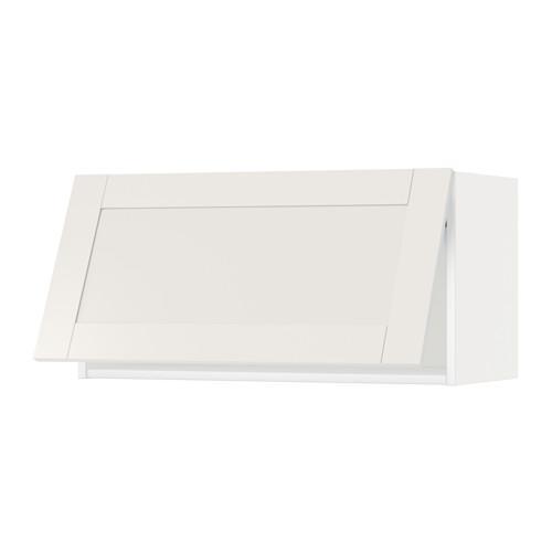МЕТОД Горизонтальный навесной шкаф - 80x40 см, Сэведаль белый, белый