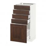 МЕТОД / МАКСИМЕРА Напольный шкаф с 5 ящиками - 40x37 см, Эдсерум под дерево коричневый, белый