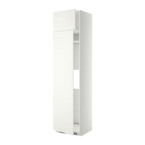МЕТОД Выс шкаф д/холодильн или морозильн - 60x60x240 см, Хэггеби белый, белый