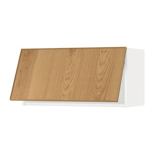 МЕТОД Горизонтальный навесной шкаф - 80x40 см, Экестад дуб, белый