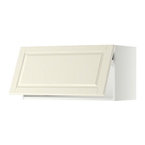 МЕТОД Горизонтальный навесной шкаф - 80x40 см, Будбин белый с оттенком, белый