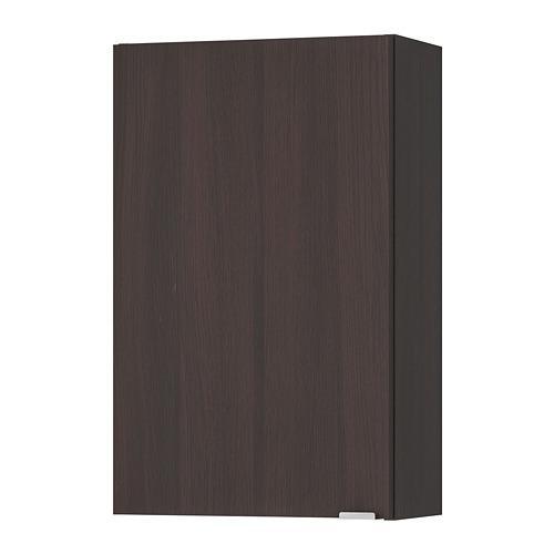 ЛИЛЛОНГЕН Шкаф навесной - черно-коричневый