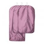 СКУББ Чехол для одежды, 3 штуки - розовый