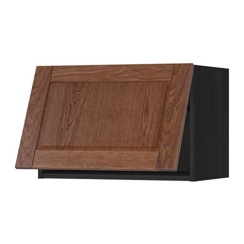 МЕТОД Горизонтальный навесной шкаф - 60x40 см, Филипстад коричневый, под дерево черный