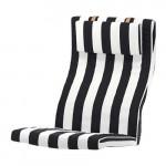 ПОЭНГ Подушка-сиденье на кресло - Стенли черный/белый, Стенли черный/белый