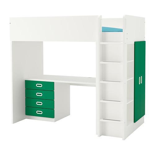 Letto A Baldacchino Ikea Prezzo.Fritids Stuva Loft Bed 4 Drawer 2 Doors Hard White