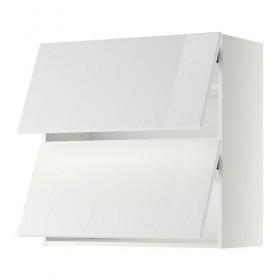Gabinete MÉTODO pared / 2 horizontales puertas - blanco brillante Ringult 80x80 cm, blanco